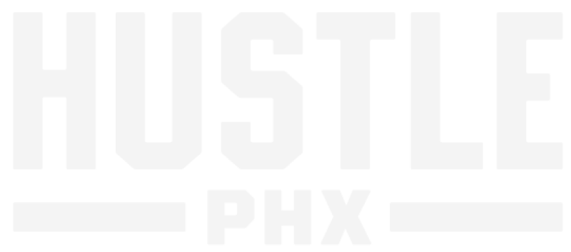 logotipo de hustle phx